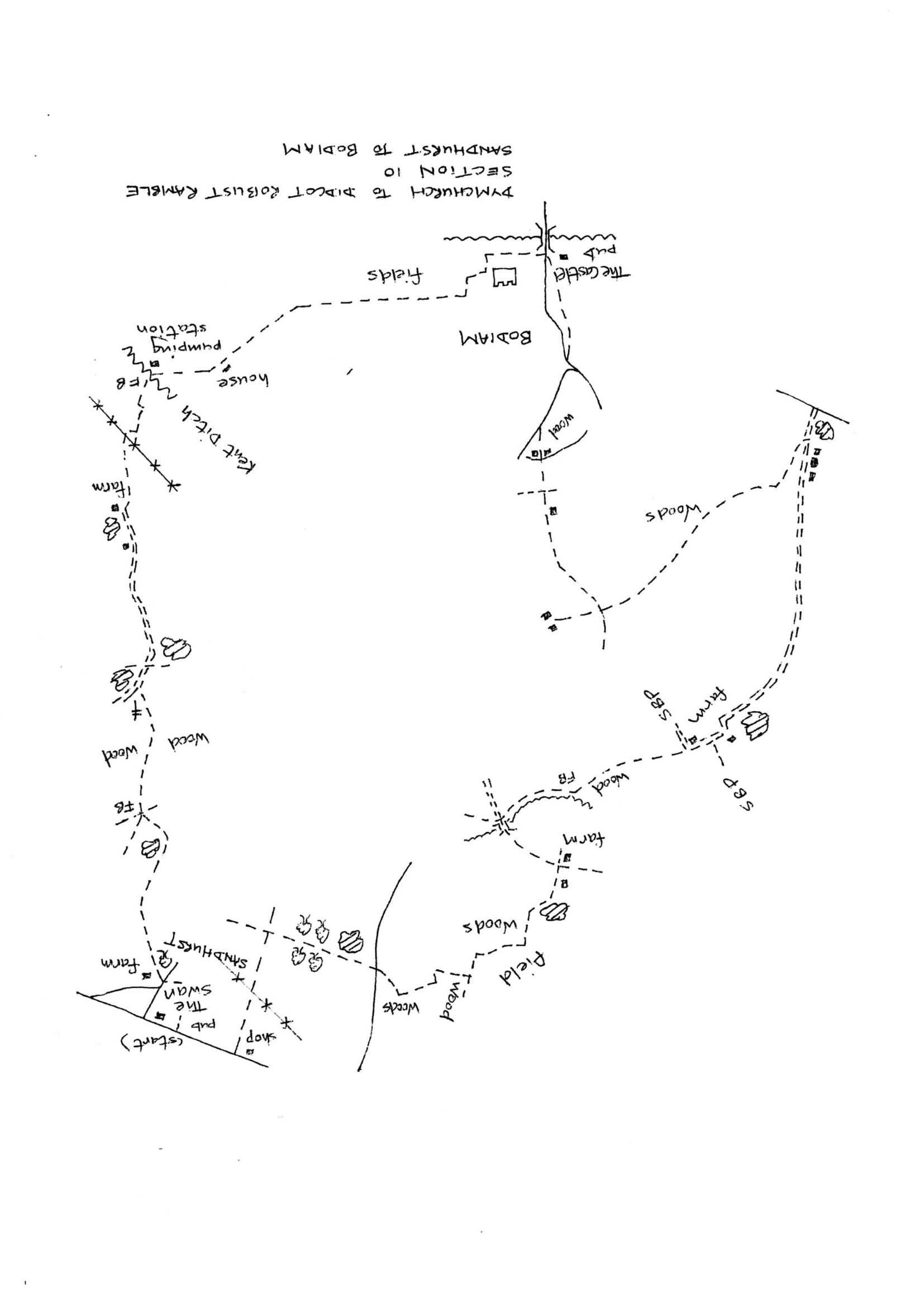 Map of Dymchurch To Didcot Robust Ramble: Section 10 Return