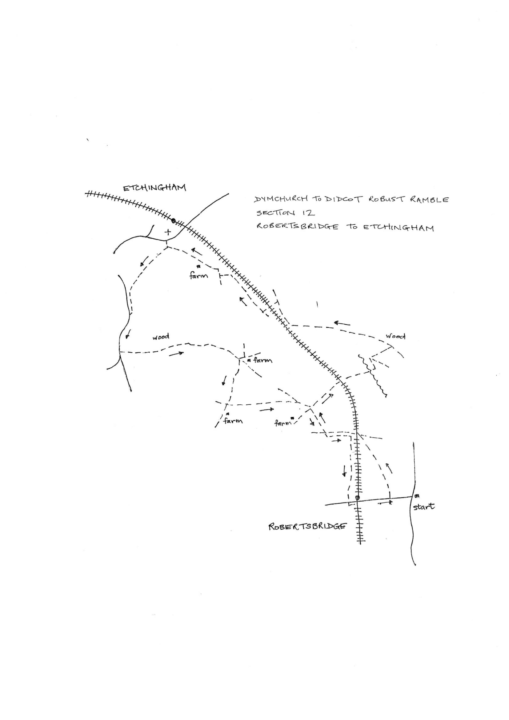 Map of Dymchurch To Didcot Robust Ramble: Section 12 Return