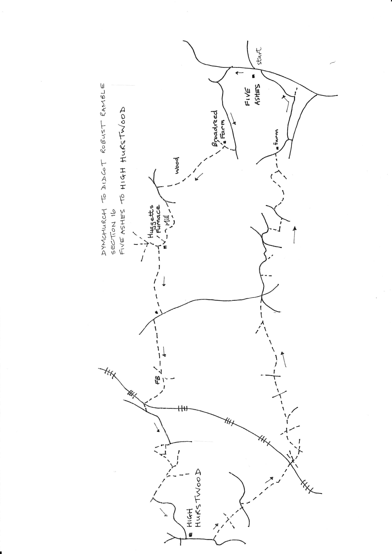 Map of Dymchurch To Didcot Robust Ramble: Section 16 Out