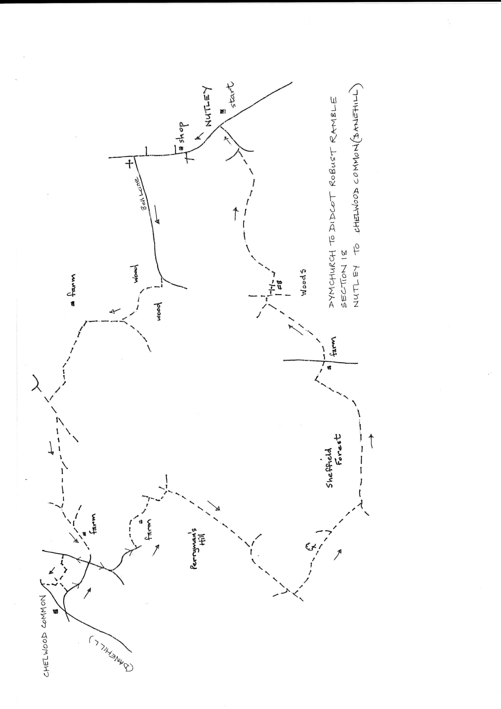 Map of Dymchurch To Didcot Robust Ramble: Section 18 Return