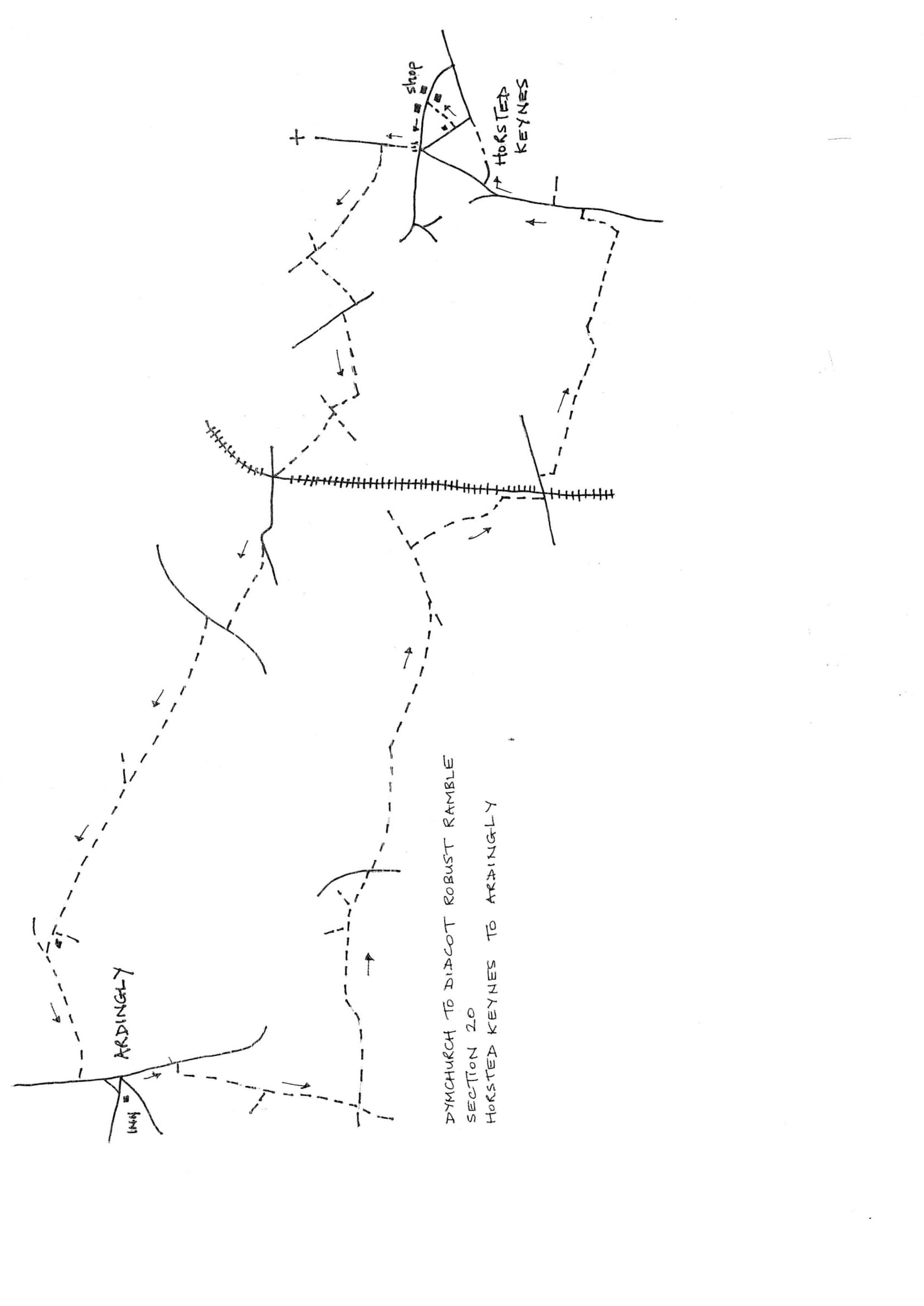 Map of Dymchurch To Didcot Robust Ramble: Section 20 Out