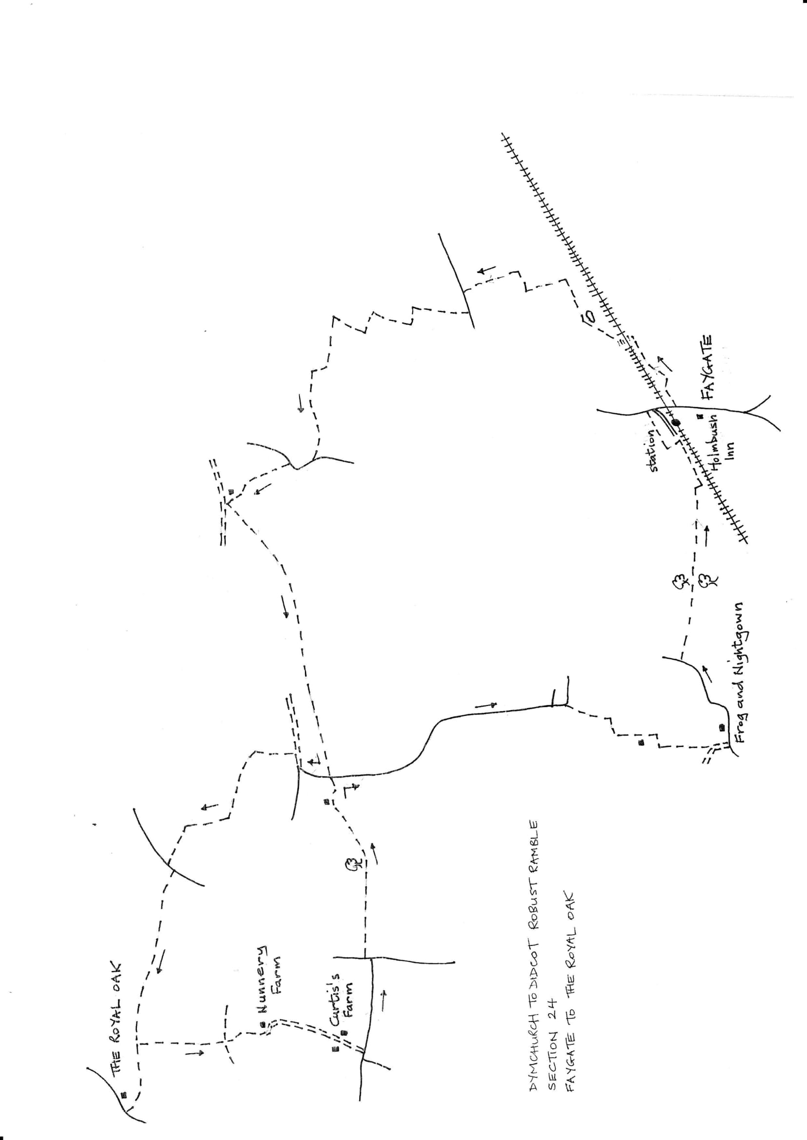 Map of Dymchurch To Didcot Robust Ramble: Section 24 Out