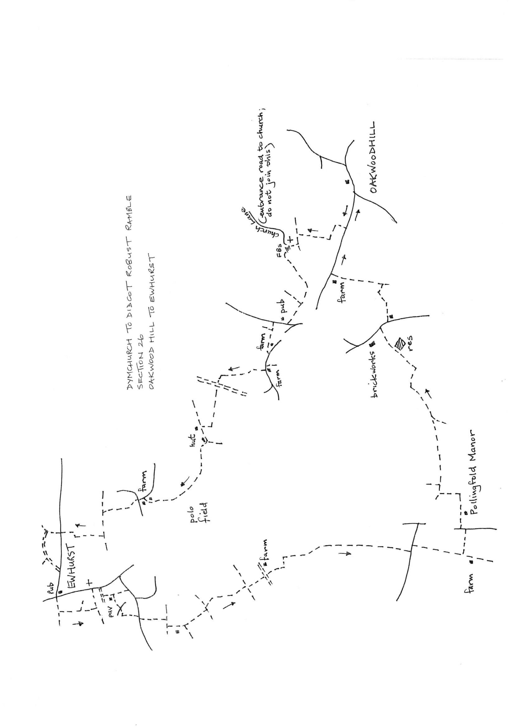 Map of Dymchurch To Didcot Robust Ramble: Section 26 Return