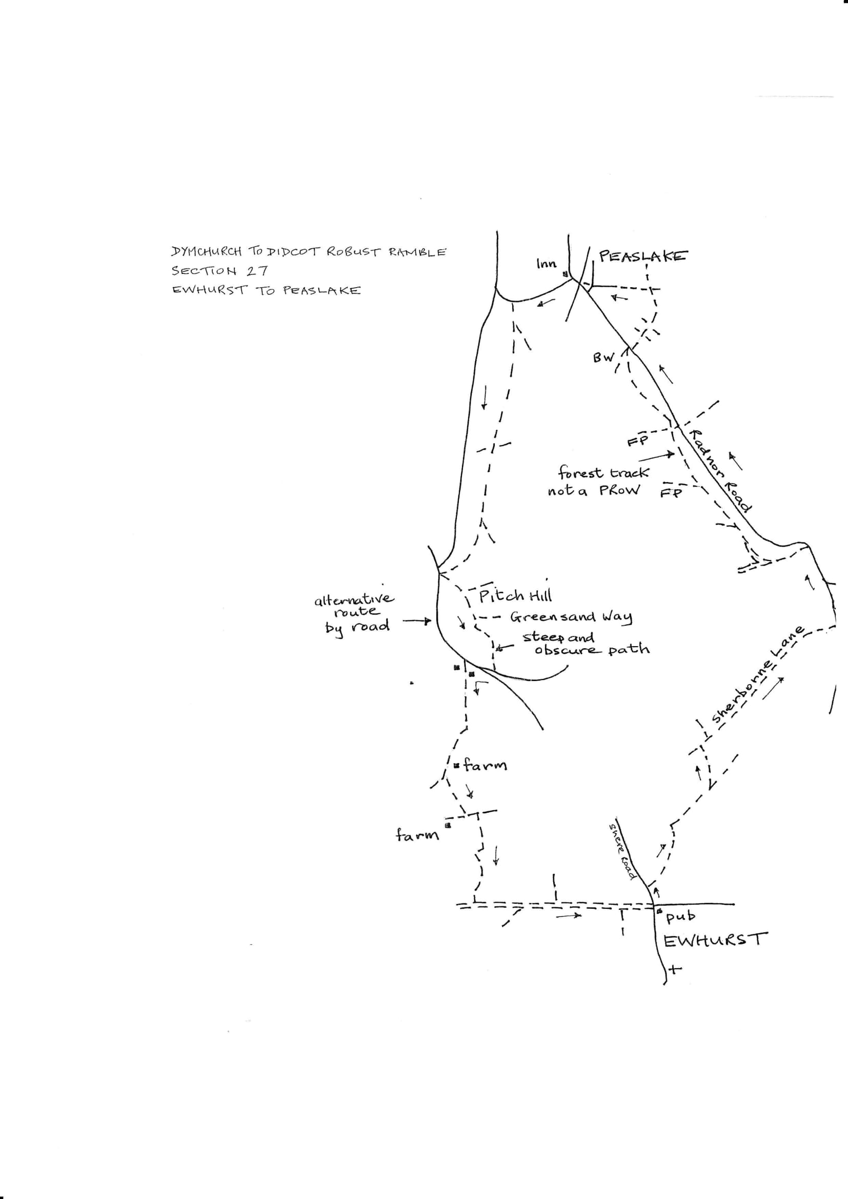 Map of Dymchurch To Didcot Robust Ramble: Section 27 Out