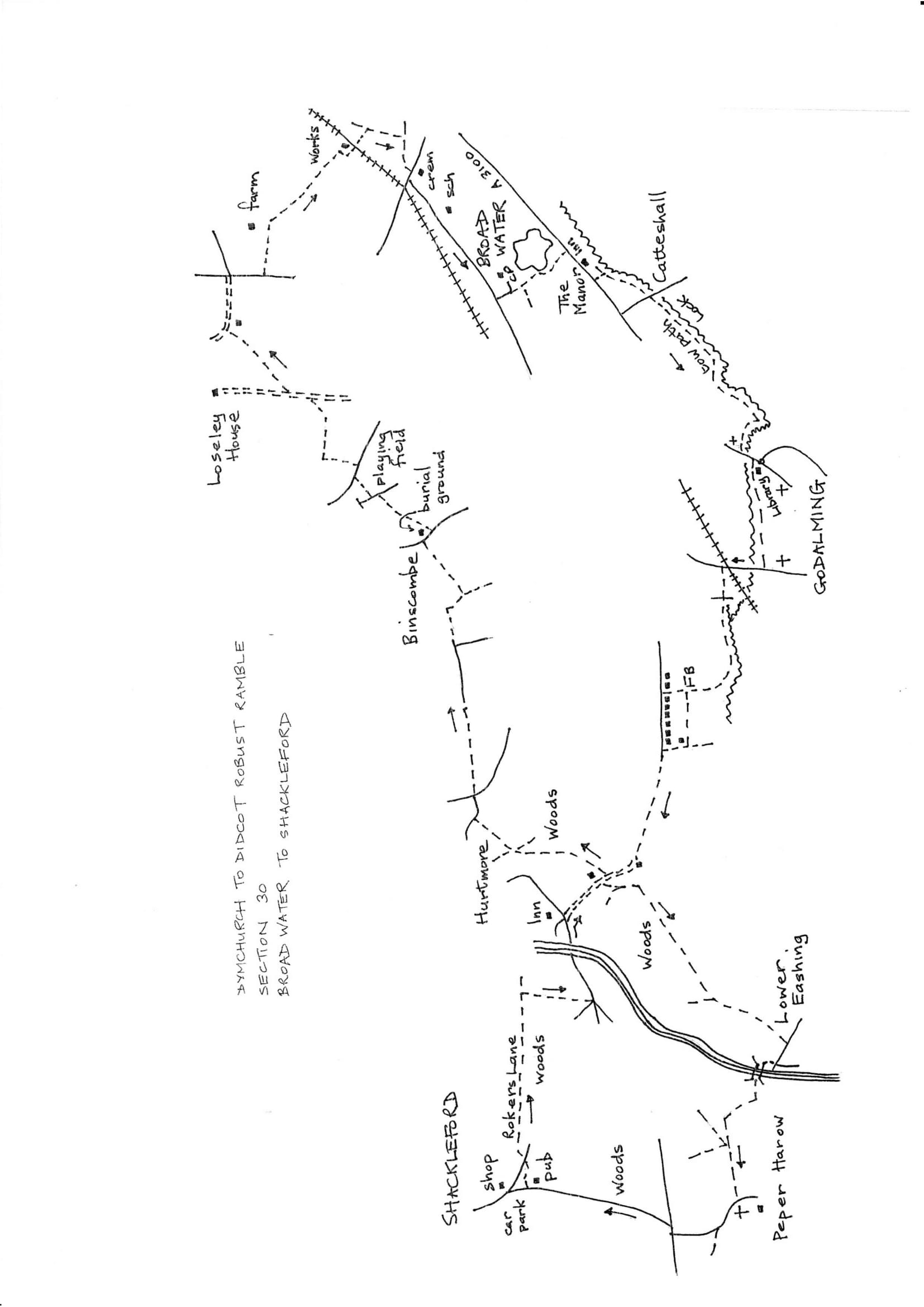 Map of Dymchurch To Didcot Robust Ramble: Section 30 Out