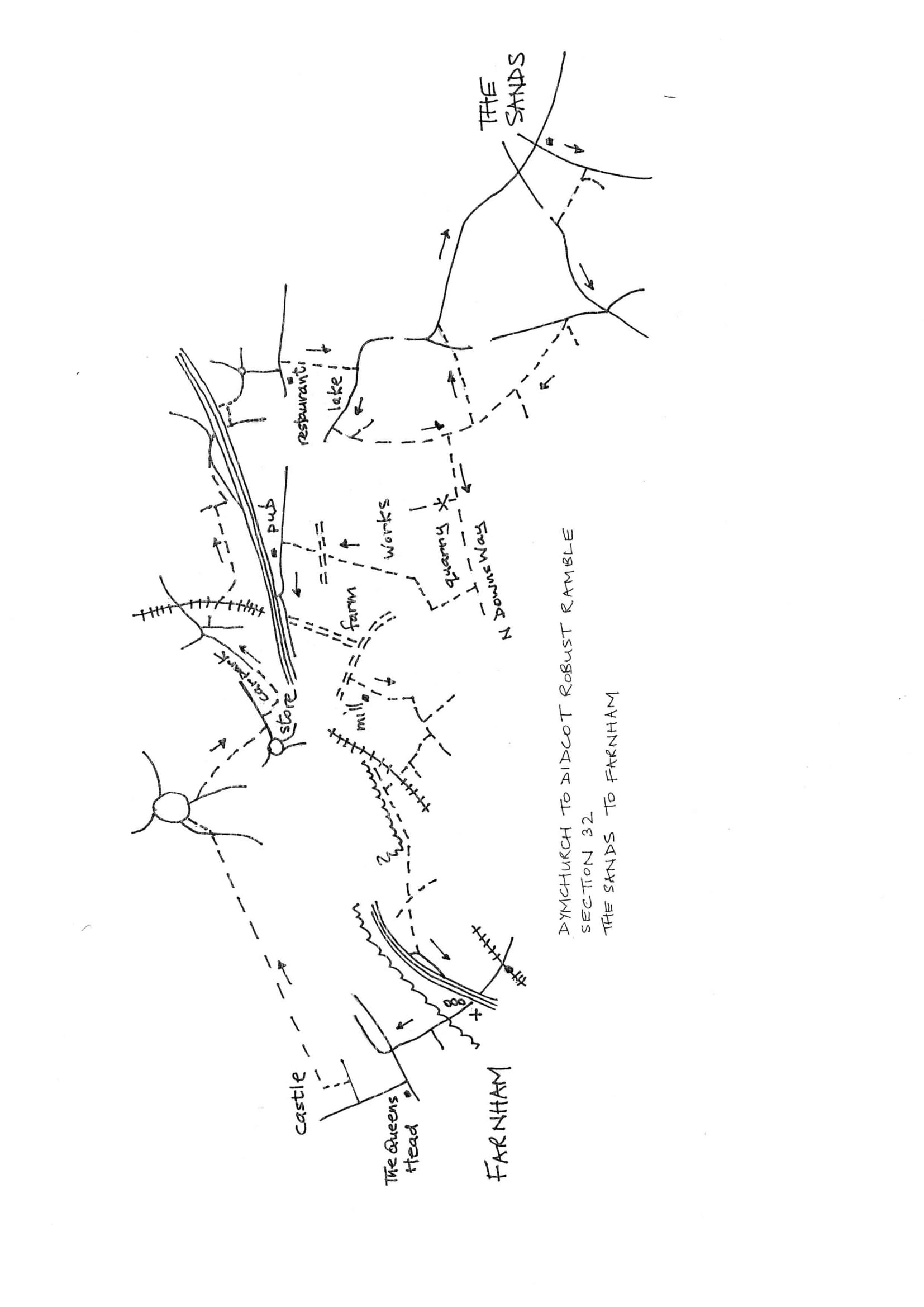 Map of Dymchurch To Didcot Robust Ramble: Section 32 Out