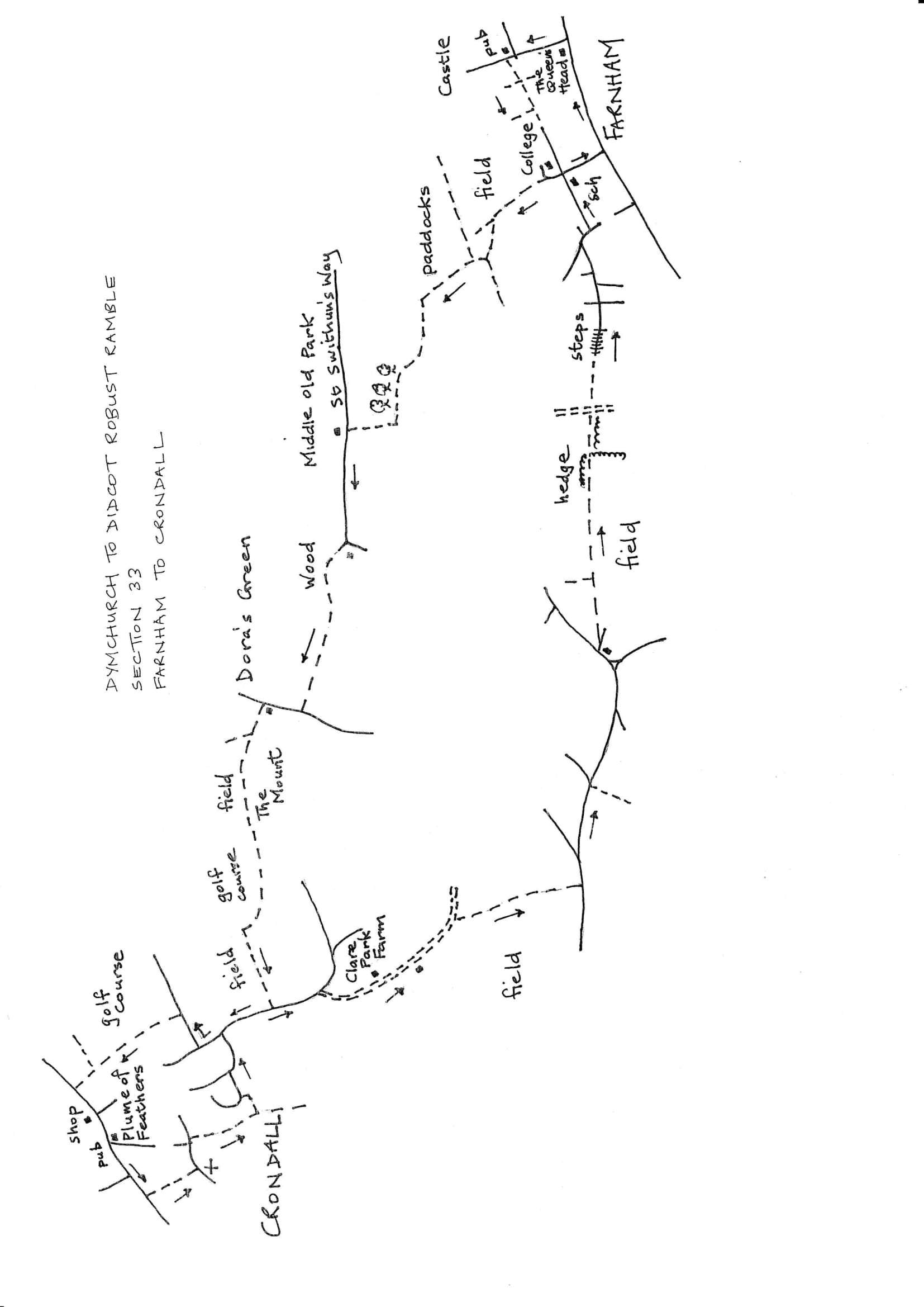 Map of Dymchurch To Didcot Robust Ramble: Section 33 Return