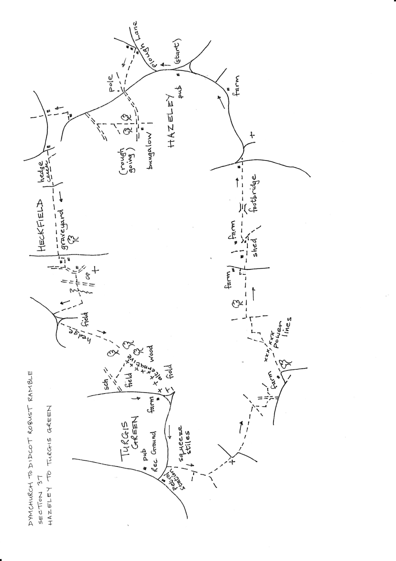 Map of Dymchurch To Didcot Robust Ramble: Section 37 Out