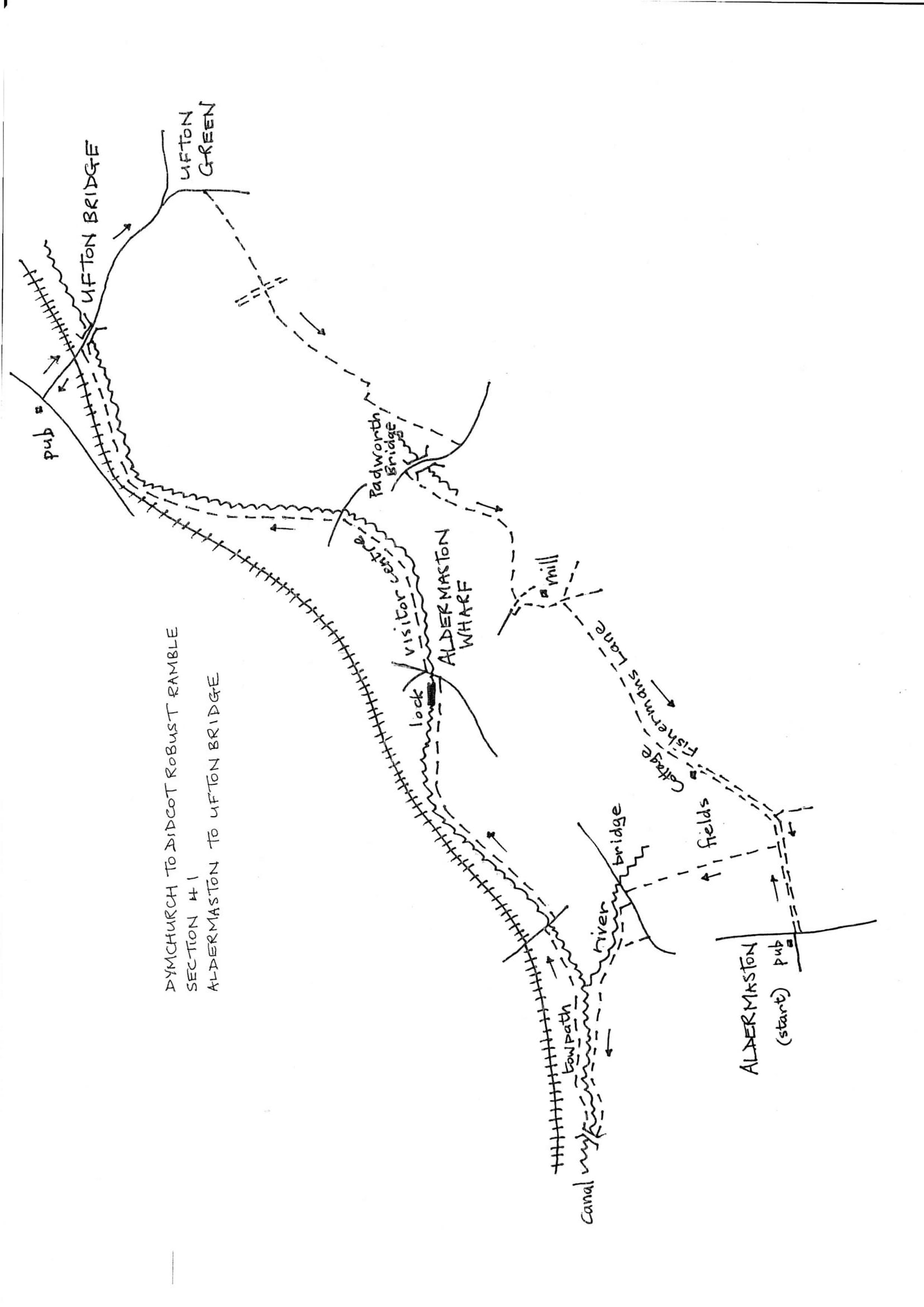 Map of Dymchurch To Didcot Robust Ramble: Section 41 Out