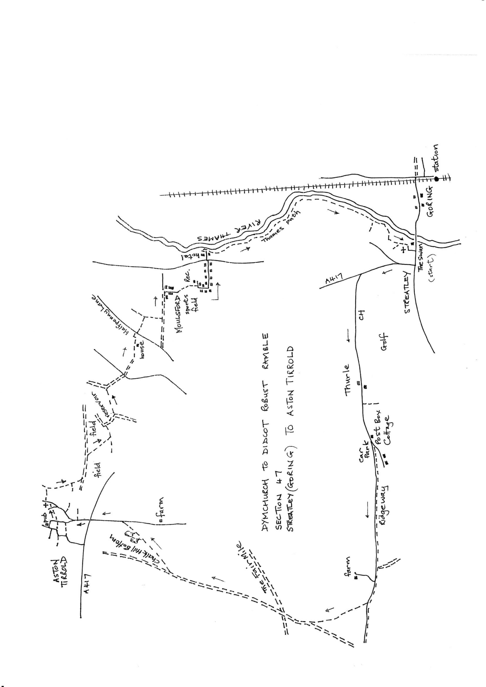 Map of Dymchurch To Didcot Robust Ramble: Section 47 Out