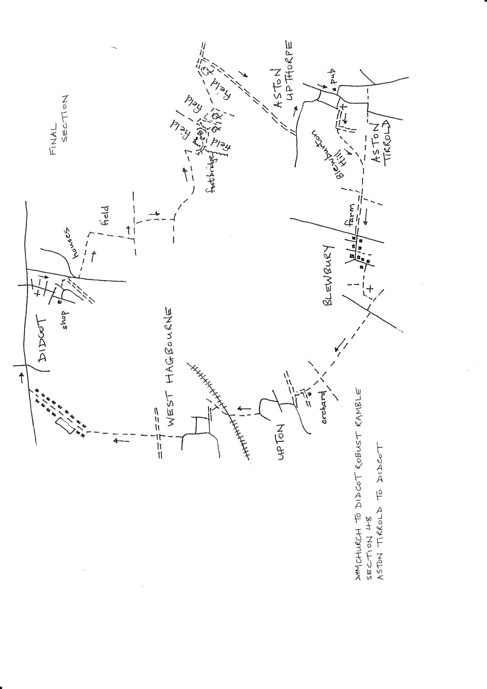Map of Dymchurch To Didcot Robust Ramble: Section 48 Out