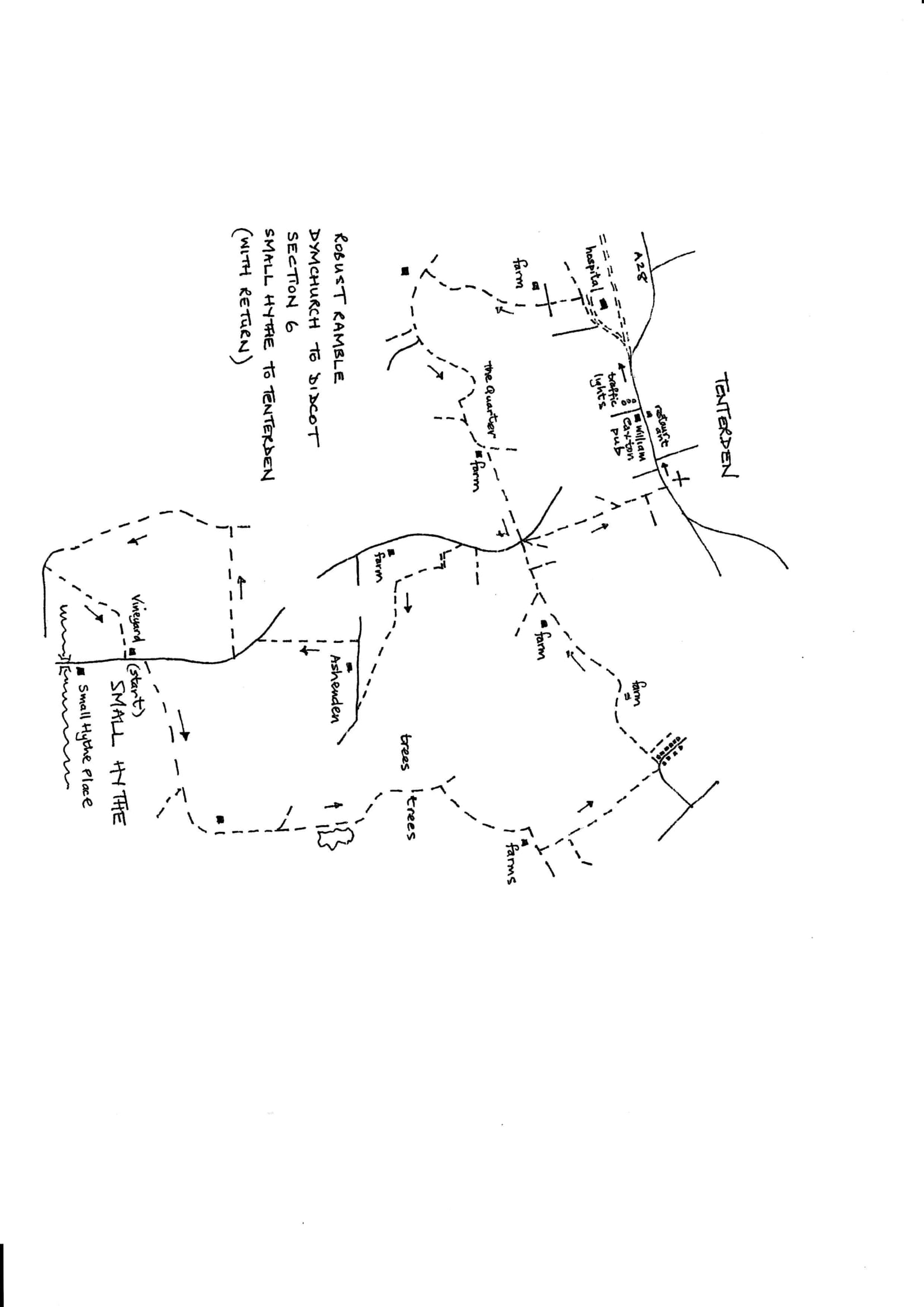 Map of Dymchurch To Didcot Robust Ramble: Section 6 Out