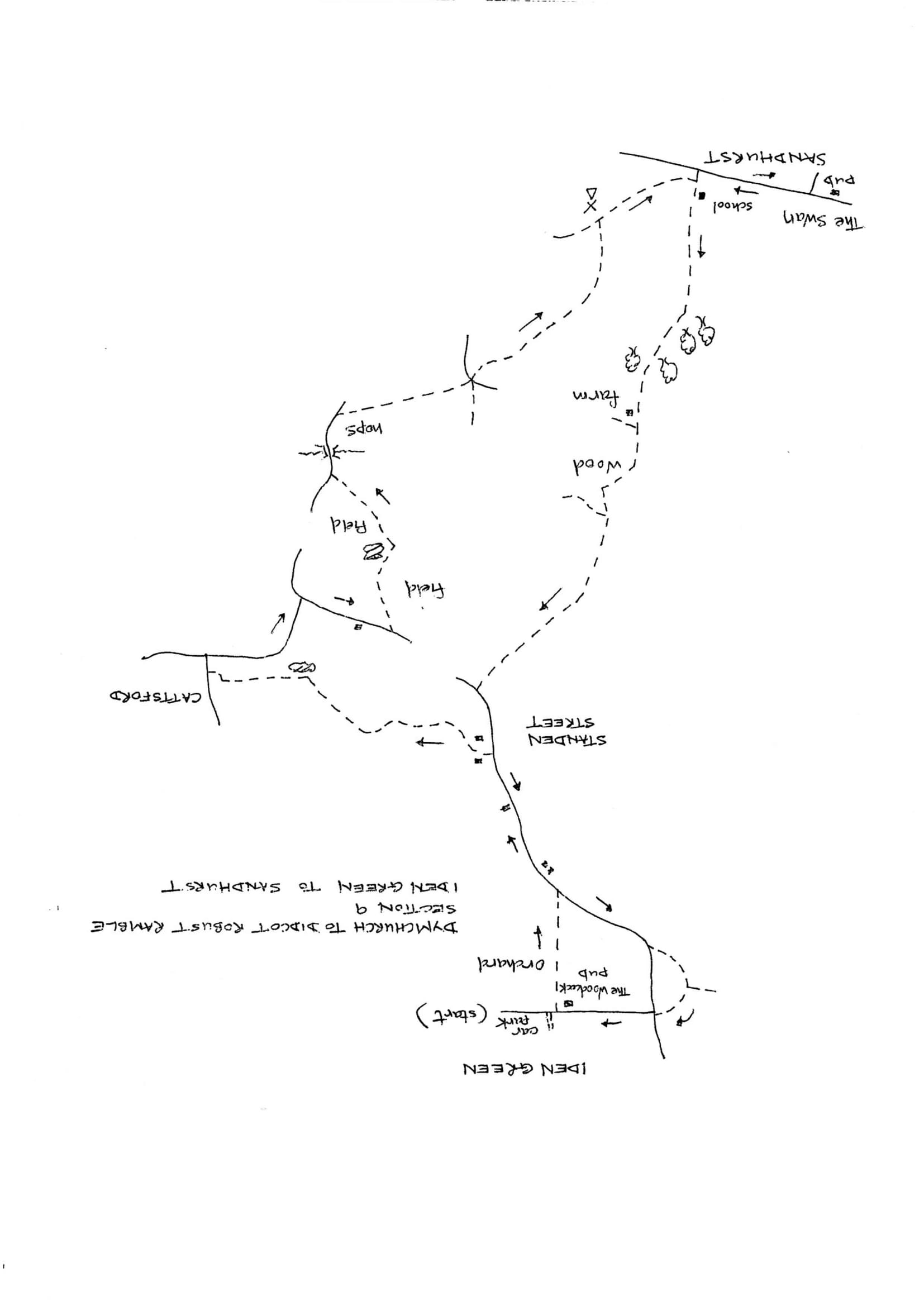 Map of Dymchurch To Didcot Robust Ramble: Section 9 Out